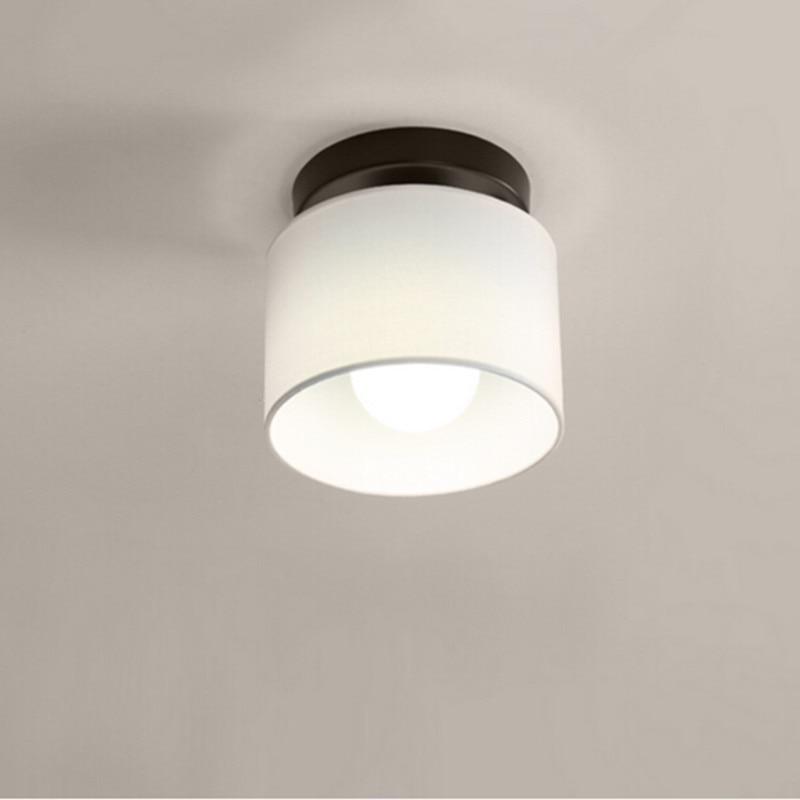 Modern Ceiling light LED lamp diameter 25cm Cloth lamp shade simple ceiling lighting for Bedroom light