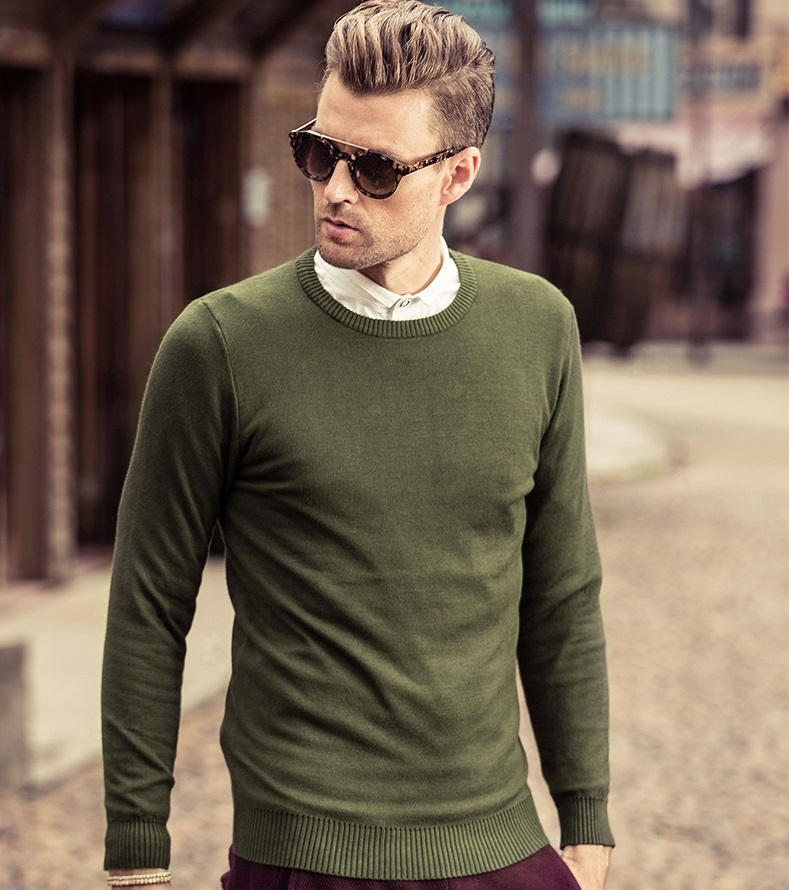 New Arrival Mens Sweater Pullover Long Sleeve Knitted Pullovers And Casual Sweaters For Men Warm comfortable-Free Shipping
