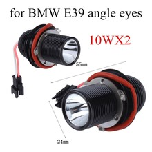 best price For BMW E39 E60 5-Series M5 X5 E53 E63 E65 X32Pcs 12V 10Wx2 LED Angle Eye Halo Ring Light Bulb