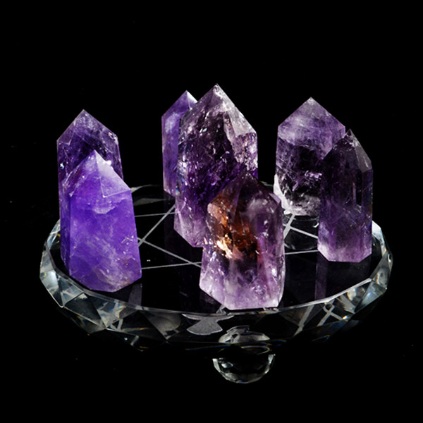 Natural Amethyst Seven Ornaments Transport Hiring Office Supplies Crystal
