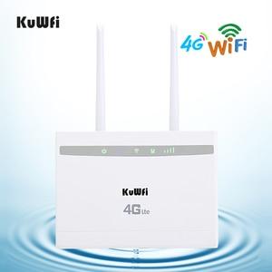 Image 5 - KuWfi 4G LTE CPE راوتر 150Mbps لاسلكي CPE راوتر 3G/4G سيم بطاقة موزع إنترنت واي فاي دعم 4G إلى شبكة سلكية تصل إلى 32 جهاز واي فاي