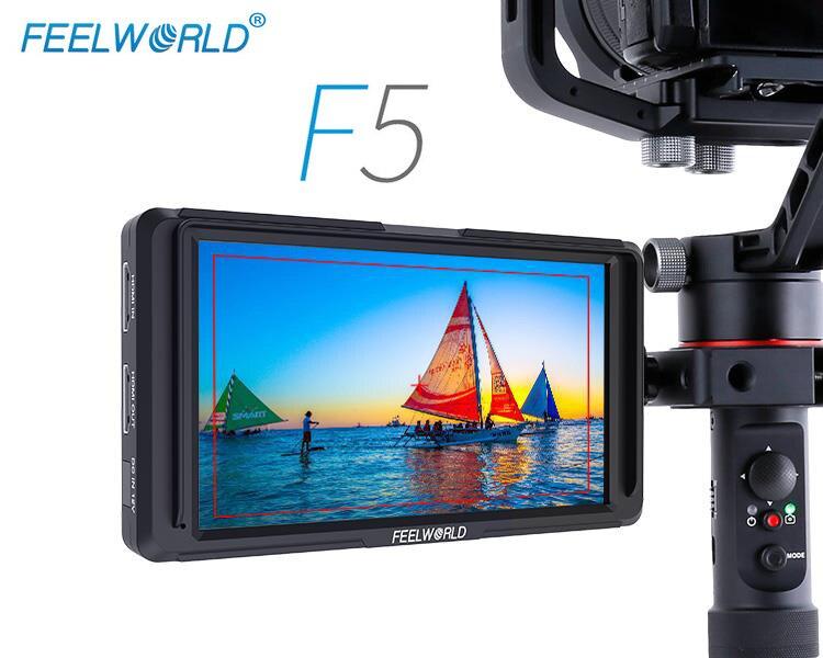 FEELWORLD F5 5 pouces 4 K HDMI DSLR caméra moniteur de terrain 1920x1080 affichage pour Sony Nikon Canon DJI ronin s zhiyun crane 2 cardan