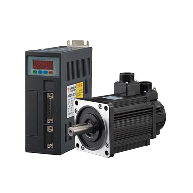 80ST M04025 220V 1000W AC Servo motor 4N M 2500RPM 1KW servomotor Single Phase ac drive