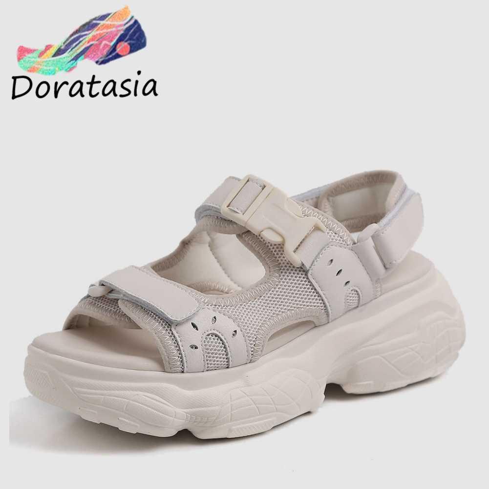 DORATASIA/Новинка Лидер продаж брендовые Босоножки на платформе с пряжкой для