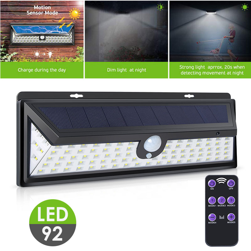 Walkway Lights Wall Light Garden Home Solar Power 92 LED Eco Friendly Street Lamp Durable Security in Solar Lamps from Lights Lighting