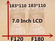 2pcs/set 183*110mm Focal 180/120 rectangle optical PMMA plastic fresnel lens for professional 7.0 inch diy projector kit lens