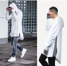 2016 männer Hip Hop Longline Hoodies Reißverschluss Side Design Männer Winter Sweatshirts Sudaderas Hombre Mann Streetwear Kleidung