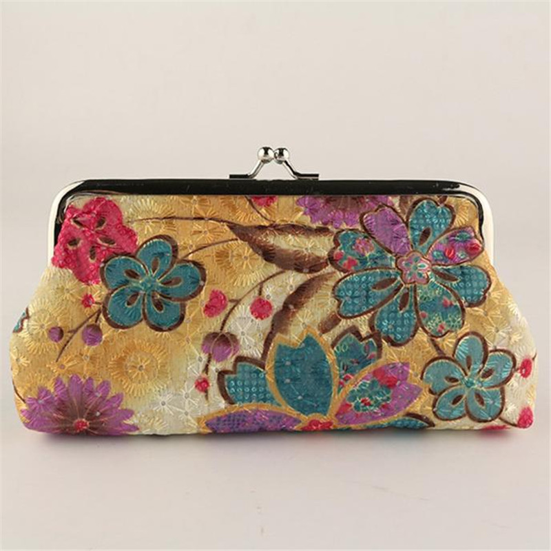 Retro Coin Purse Women Lady Vintage Flower Small Wallet Hasp Purse Clutch makeup women bag mini womens wallets Lucky coin purse wallet 2016 women bag christmas gift fashion mini small bag cheap nostalgic retro vintage wallets storage money 1022