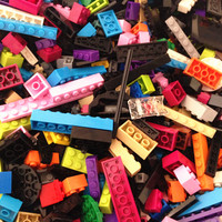 Big Discount! 1kg Mixed Shapes Building Bricks Classic and Special Particles Various Colors Compatible with Major Brand