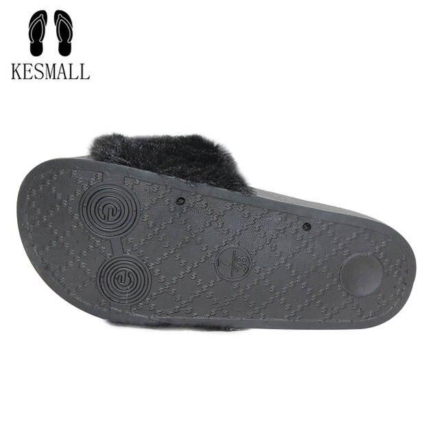 5d892c8d9 Online Shop KESMALL Hot Sale Fashion Spring Summer Autumn Home Plush Slippers  Women Faux Fur Slides Flip Flops Flat Shoes Girls Gift WS332 | Aliexpress  ...