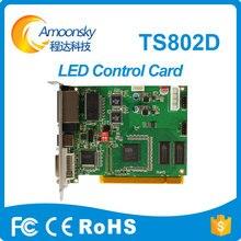 Linsn ts802d cartão ful cor levou exibição de vídeo síncrono cartão ts802 led de vídeo original de fábrica fornecer diretamente