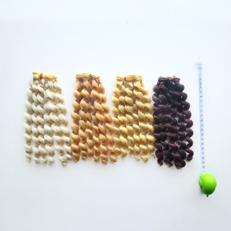 Bjd Doll American Girl Doll Clothes Wig Hair Row Toys Doll Accessories Curls Synthetic Fiber Doll Wigs High temperature Hair20cm in Dolls Accessories from Toys Hobbies