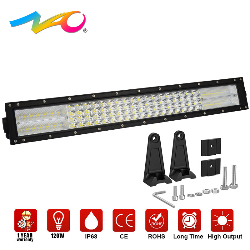 NAO 1pcs LED Car Light Bar 4x4 Off road Work Light 22Inch Led Bar 12V Combo Beam quad row Driving Auto Lamp for Boat 4WD Offroad 39 1 240w led driving light bar off road spot flood beam for truck tractor offroad boat 4x4 driving light 10w led work lamp 12v