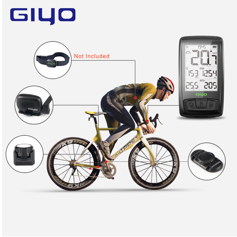 Image 3 - ANT+ /BLE4.0 Wireless Bicycle Computer Mount Holder Bicycle Speedometer Speed/Cadence Sensor Waterproof Cycling Bike ComputerBicycle Computer   -