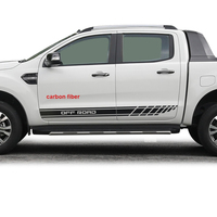 car stickers 2pc side body off road gradient graphic vinyls protect modified accessories racing decals custom for FORD RANGER