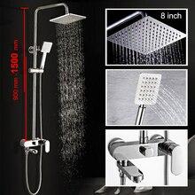 Łazienka z Prysznicem Zestaw 8-10-12 cal Deszcz Głowica Prysznicowa Wanna Prysznic Mixer z Rąk Prysznic