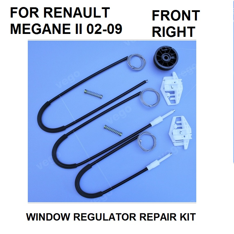 CAR WINDOW REGULATOR REPAIR KIT FOR RENAULT MEGANE II 2 FRONT RIGHT 2002-2009 NEW car window regulator repair kit for renault megane ii 2 front right 2002 2009 new