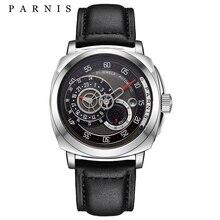 2017 Más Reciente Tema Reloj Automático Para Hombre 44mm Parnis PVD Relojes Mecánicos de Primeras Marcas de Lujo Caso Luminoso 100 M Impermeable diseño