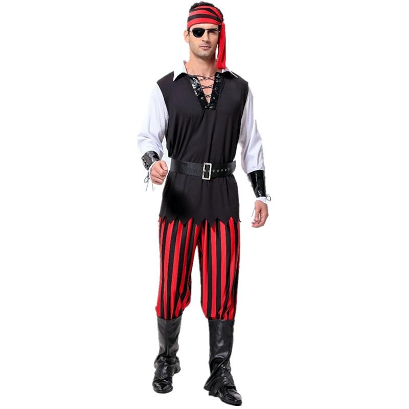 Captain Jack Sparrow Piraat Kostuum Volwassen Mannen Halloween