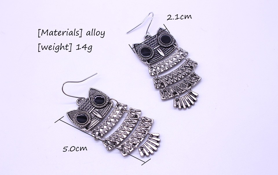 Colorfol Retro Owl Earrings
