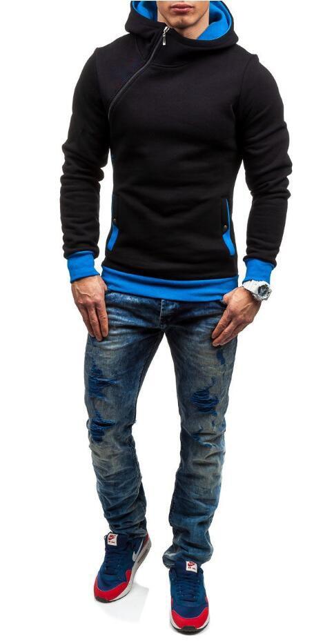 HEYKESON Brand 2017 Hoodie Oblique Zipper Solid Color Hoodies Men Fashion Tracksuit Male Sweatshirt Hoody Mens Purpose Tour XXL HEYKESON Brand 2017 Hoodies, with an chest Zipper HTB1gwTlSFXXXXbOaXXXq6xXFXXXg