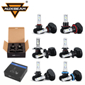 Auxbeam H4 H7 H11 H13 9005/HB3 9006/HB4 Led Car Headlight Kits High/Dipped Beam CREE CSP Chips Fog Bulbs Fanless 6500K 12V 24V