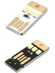 Mini Pocket Card Usb Power Led Sleutelhanger Nachtlampje 0.2W Usb Led Lamp Boek Licht Voor Laptop Pc Powerbank night Lamp 5 Stks/partij