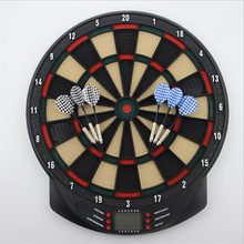 15 Inch Electronic Darts Board Set LCD Display Automatic Score Dart Plate Scoring Board With Voice 27 Games With 6pc Soft Darts of 1pc 100 6 20 6t tct scoring blade with oke original carbide tips for scoring aluminum plate alunimun profile