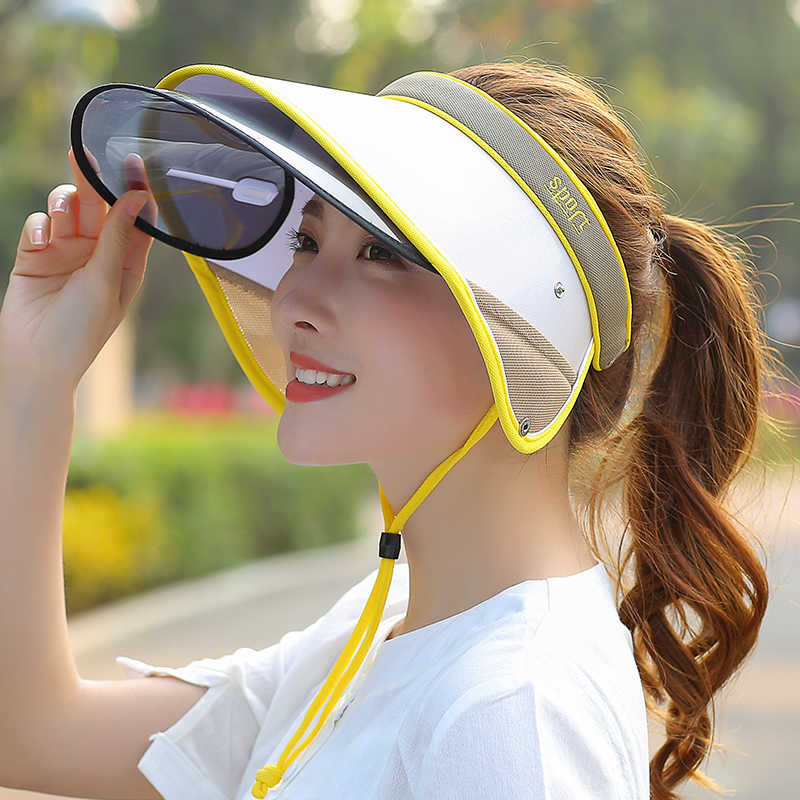 Summer Riding Sun Hat Big Anti-UV Hats For Womens Wild Outdoor Empty Top Cap Fashion Caps For Ladies