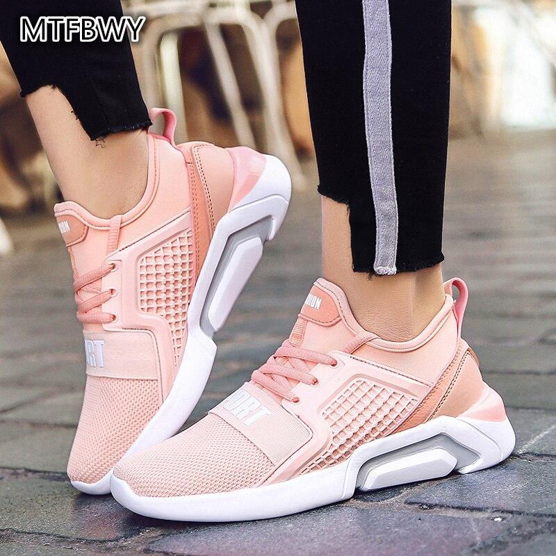נשים של נעלי ריצה חדש קיץ ורוד נשים סניקרס לנשימה שרוכים ליידי נעלי כושר sapato feminino גודל 35 -40 a98s