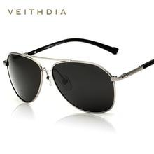 Veithdia recubrimiento hombres gafas de sol polarizadas de moda espejo de conducción gafas de sol gafas masculinas gafas accesorios 2366