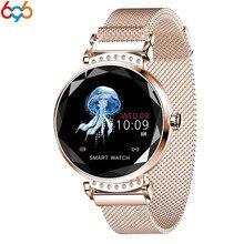 696 H2 Women Smart Watch Heart Rate Blood Pressure Sleep Monitor bracelet Waterproof Fitness Tracker smart band