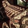 CAMMITEVER 1pc European Floral Self Adhesive Non Slip Floor Carpets Stair Treads Protector Mats Step Rug
