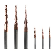 Tungsten Solid Carbide Ball Nose Cone Type H-SI Coated Tapered End Mills Cutter Bits Milling cutters mixed end mills
