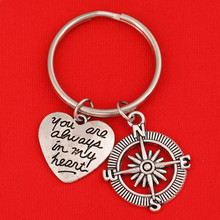 Silver Friendship Keychain Best Friends Forever You Are alwa