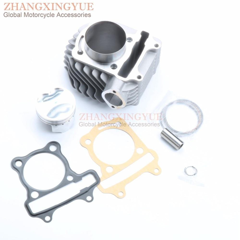 58.5 мм, 4 клапана / 4В клапана большой Диаметр цилиндра Комплект для GP110 ход gy6 125cc мотоцикла передачей 150cc 152QMI 157QMJ 4Т обновления для 155cc