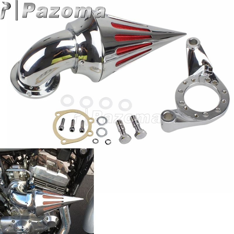 Motorcycle Chrome Spike Air Cleaner Intake Filter For Harley CV Delphi V-Twin