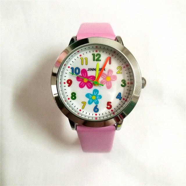 Studenti bambini regalo di natale ragazza orologio al quarzo di sport dei bambini del fumetto Rosa modello da polso montre enfant relogio infantil