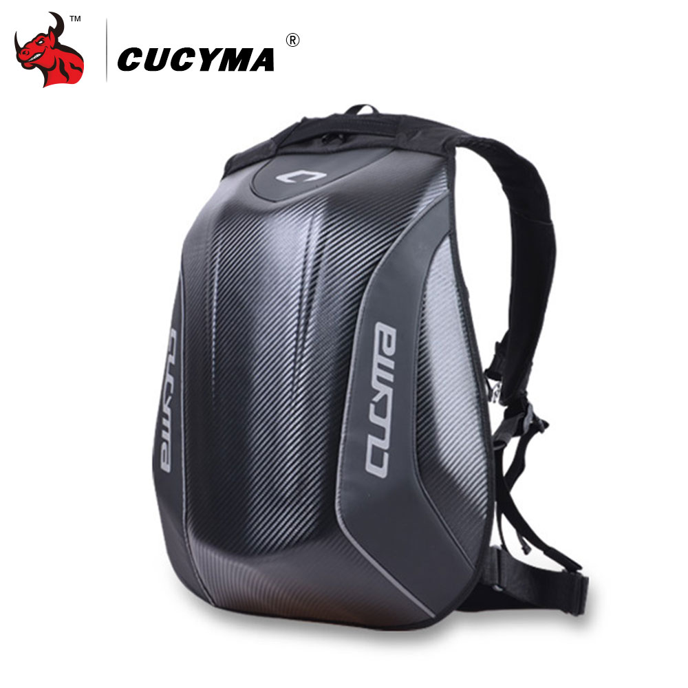 CUCYMA Motorcycle Bag Waterproof Motorcycle Backpack Carbon Fiber Motocross Racing Riding Helmet Bag Motorbike Knight Backpack motorcycle tank bag sports helmet racing motobike backpack magnet luggage travel bag water resistance