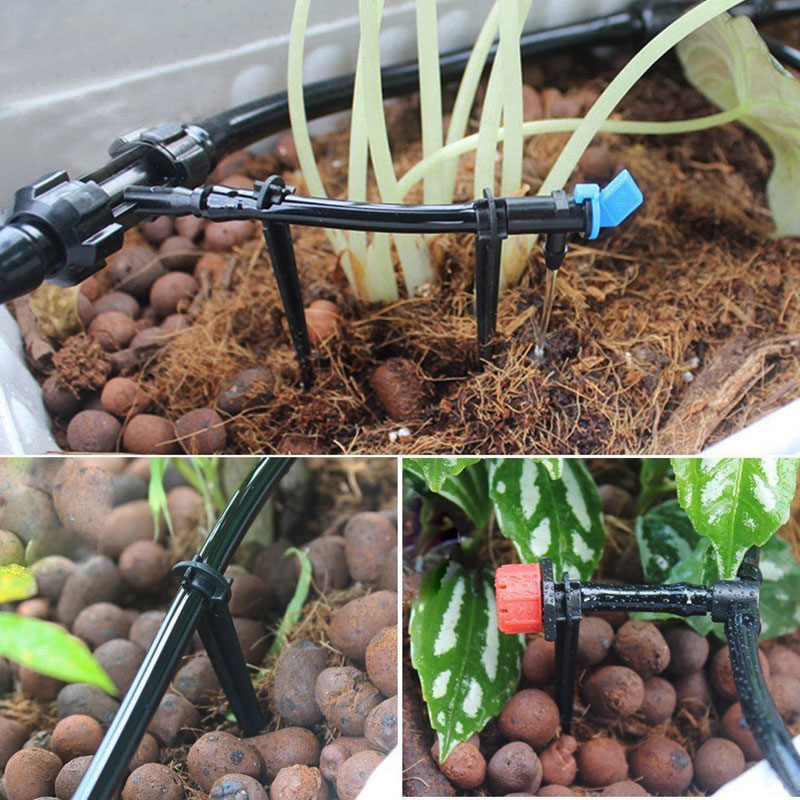 5m 15m 25m Hose Micro Drip Irrigation System Adjustable Dripper