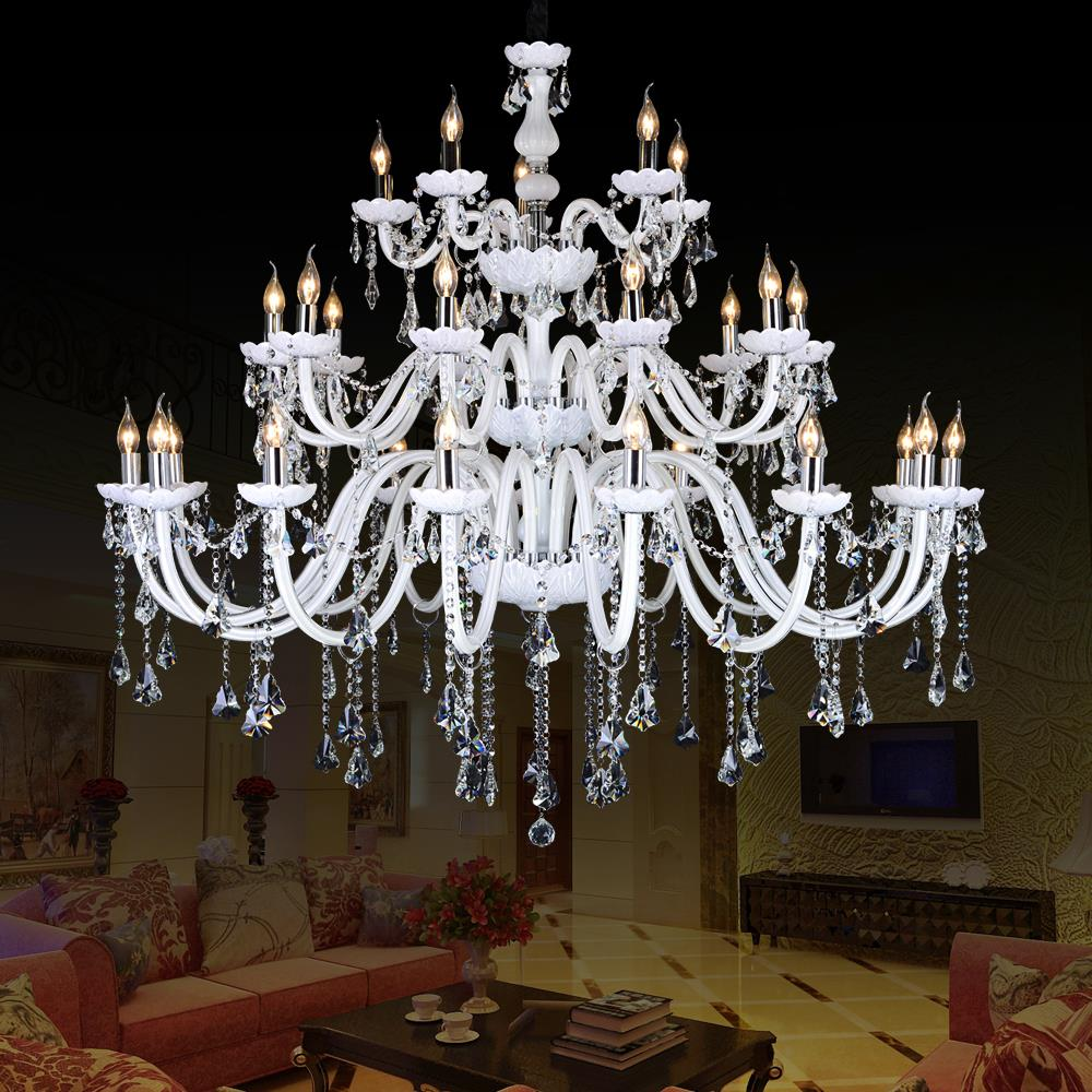 indoor lamp large Chandelier Crystal K9 LED chandelier Double Staircase Spiral Staircase Lights ceiling chandeliers living room ten second staircase