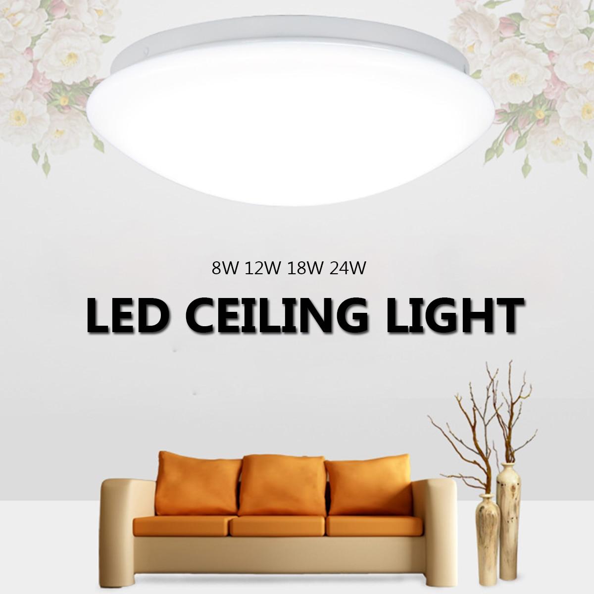 100% Kwaliteit 8/12/18/24 W Moderne Ronde Led Plafond Lights Luminaria Plafondlamp Voor Woonkamer Slaapkamer Home Decoratieve Armaturen Verlichting Duidelijk Effect