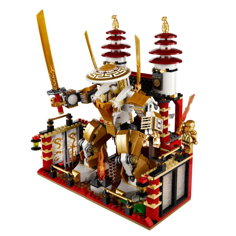 ФОТО 2017 9795 Lepin Compatible Dojo Building Blocks Sets Golden Kai Gifts Toys Brick Compatible with TOYS Gift
