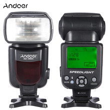 Andoer AD 960II On kamera flaşı Speedlite fener GN54 evrensel LCD ekran flaş ışığı Nikon Canon Pentax DSLR kameralar