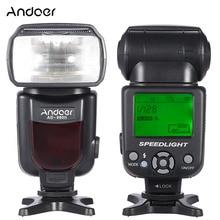 Andoer AD 960II على فلاش كاميرا Speedlite مضيا GN54 لوحة تحكم شاملة في التلفزيون الإل سي دي عرض ضوء فلاش لنيكون كانون بنتاكس كاميرات DSLR