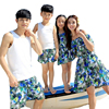 Summer Family Clothing Casual Flower Mother And Daughter Dresses Girls Vest Dress Father Son Matching Outfits