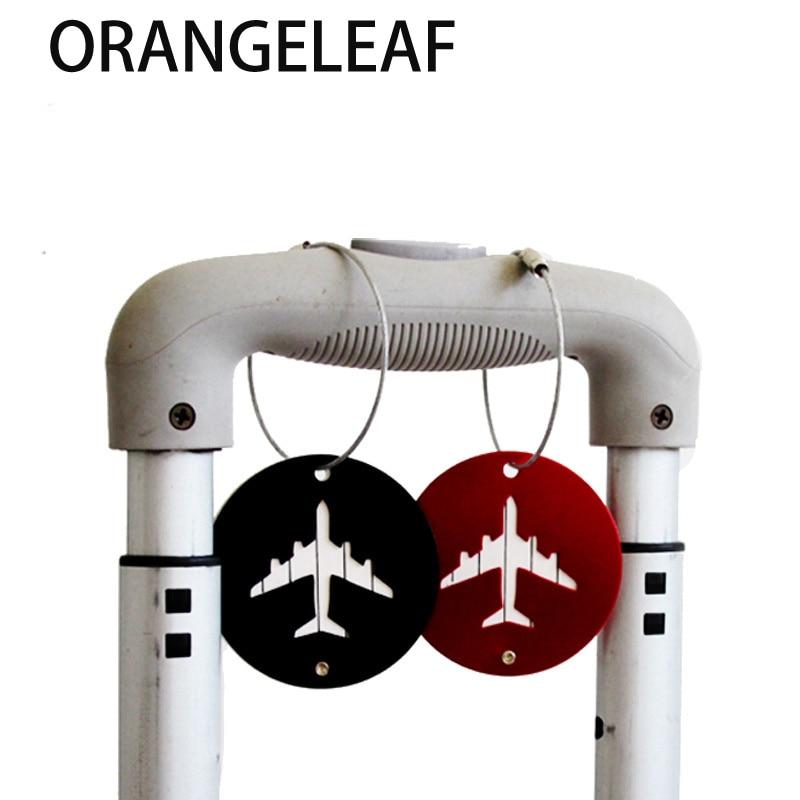 Aluminium Cirkel Bagage Labels Vliegtuig Vorm Gecontroleerd Instappen - Reisaccessoires - Foto 2