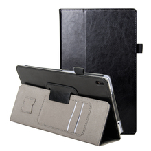 Flip Stand Case for Lenovo TAB4 8 Plus Smart PU Leather Case for Lenovo TAB 4 8 Plus TB-8704N TB-8704F hand holder case +film(China)
