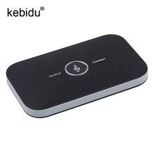 Kebidu HiFi bezprzewodowy zestaw słuchawkowy Bluetooth 5.0 odbiornik nadajnik z 3.5mm kabel Audio 2 in1 Dual Audio muzyczny Adapter do TV PC