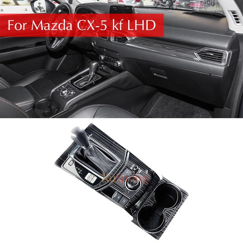 Para Mazda CX-5 CX5 2017 KF 2018 LHD Painel Caixa De Deslocamento de Engrenagem Do Carro Adesivo Da Tampa Frisos Enfeite Decoração de Proteção carro-styling